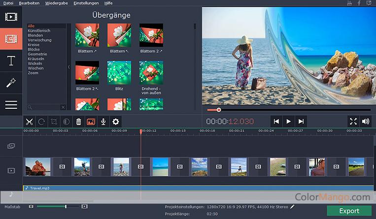 Movavi Slideshow Maker Bildschirmfoto