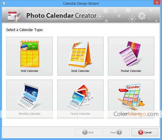 Calendar Graphic Generator : Photo calendar creator discount coupon working