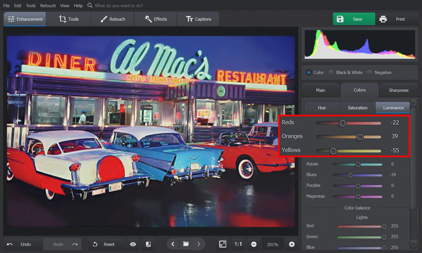 PhotoGlory Pro Bildschirmfoto