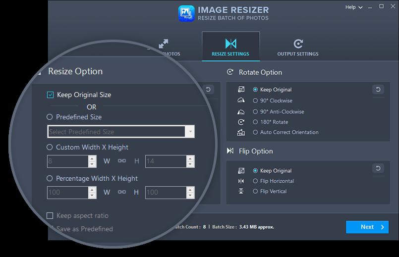 Systweak Image Resizer Screenshot