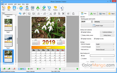 Photo Calendar Creator Discount Coupon Screenshot
