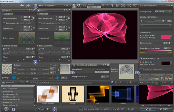 AbstractCurves Screenshot