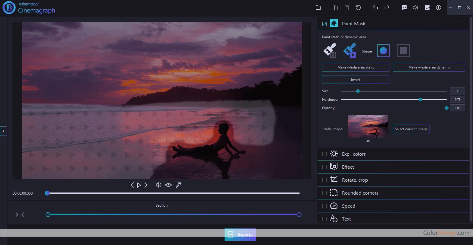 Ashampoo Cinemagraph Screenshot