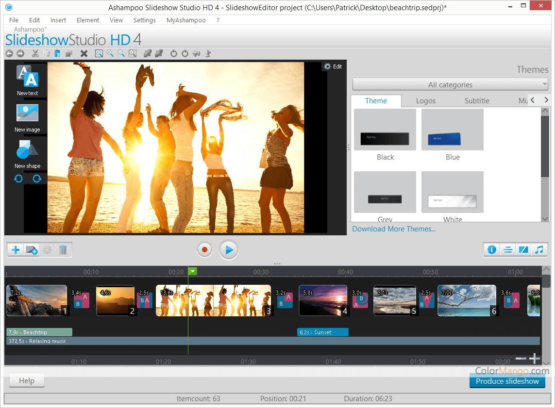 Ashampoo Slideshow Studio HD Screenshot