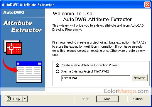 AutoDWG Attribute Extractor Screenshot