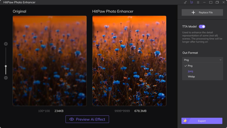 HitPaw Photo Enhancer Screenshot