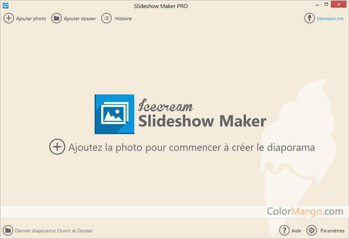 Icecream Slideshow Maker Pro Screenshot