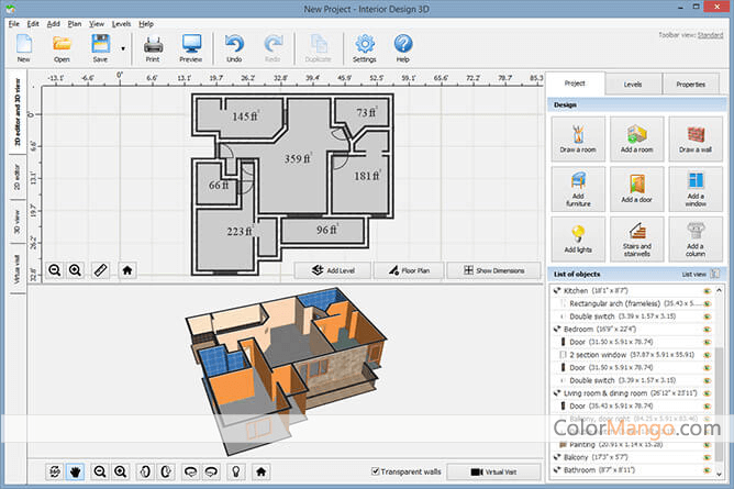 Interior Design 3D Screenshot
