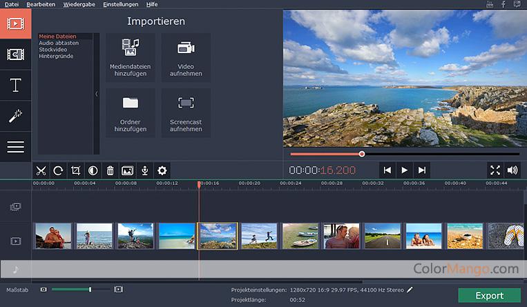 Movavi Slideshow Maker Screenshot