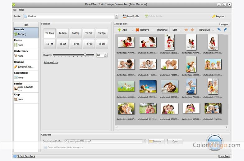 PearlMountain Image Converter Screenshot