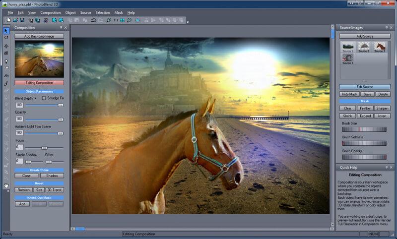 Photo Blend 3D Screenshot