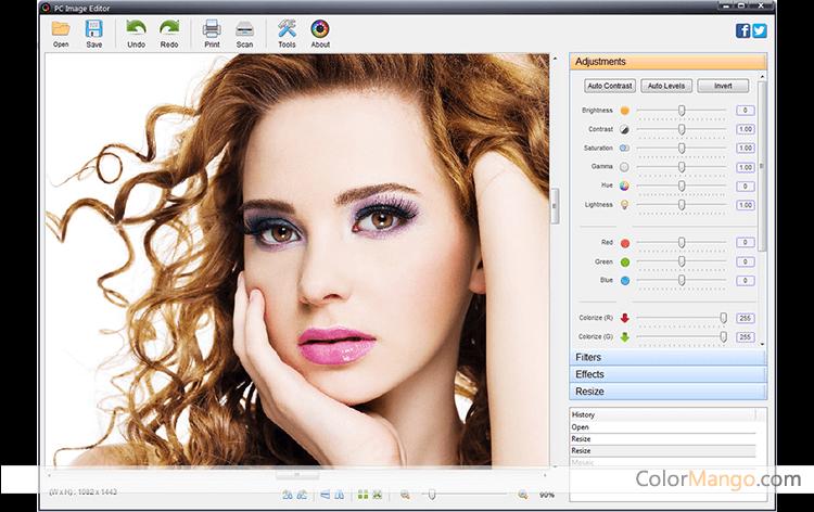 Program4Pc Photo Editor Screenshot