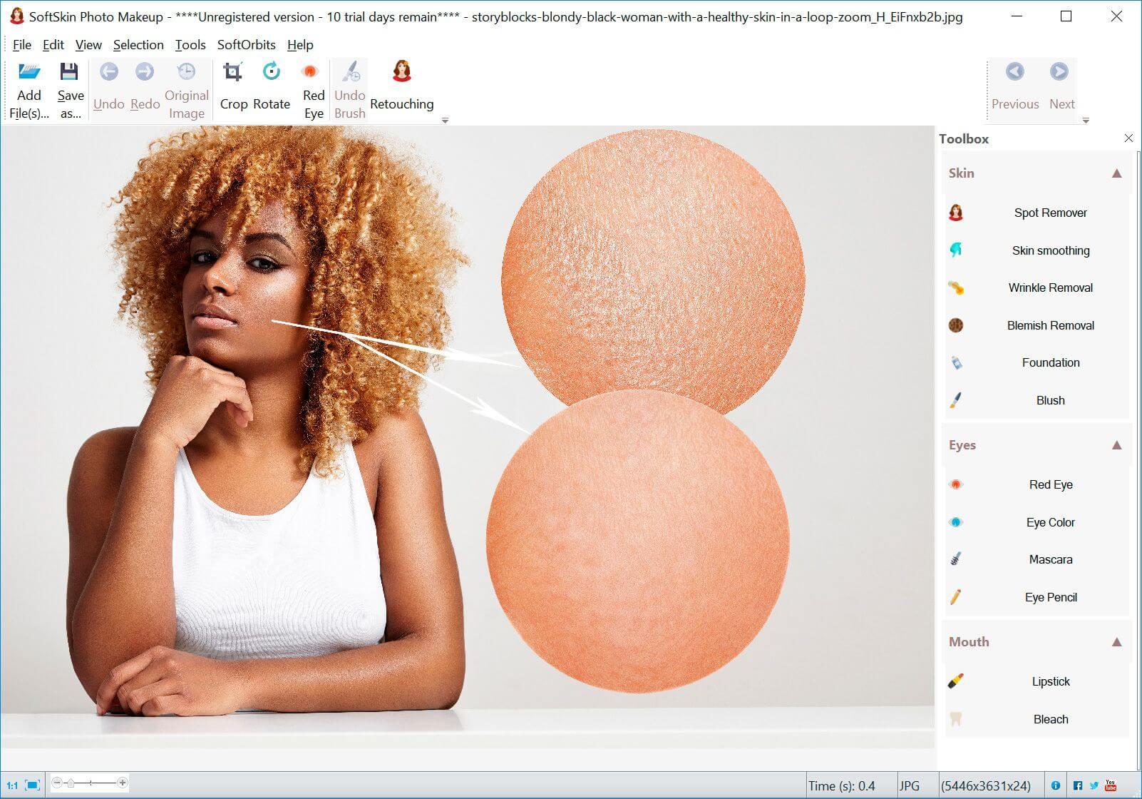 SoftSkin Photo Makeup Screenshot