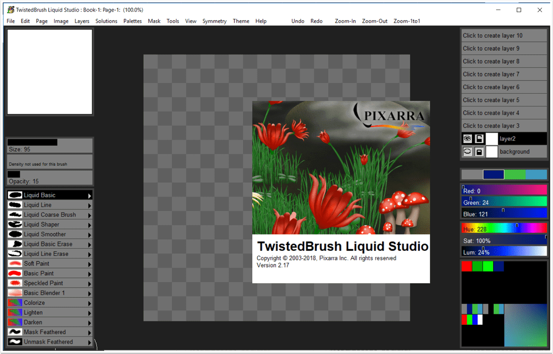 TwistedBrush Liquid Studio Screenshot