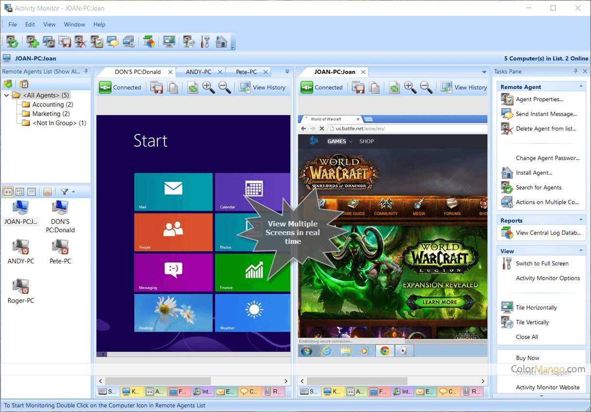 SoftActivity Activity Monitor Screenshot