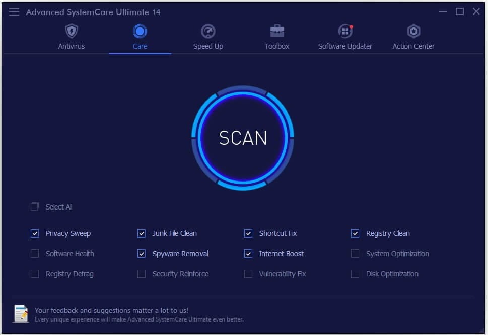 Advanced SystemCare Ultimate Screenshot