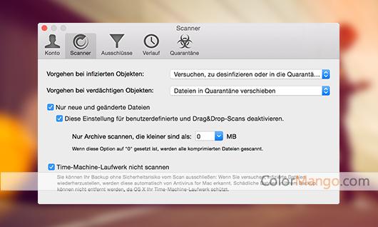BitDefender Antivirus for Mac Bildschirmfoto