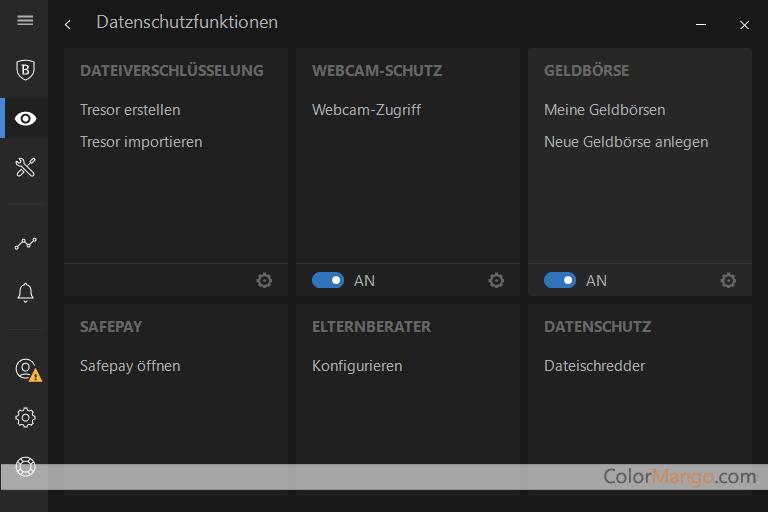 BitDefender Internet Security MULTI-DEVICE Bildschirmfoto