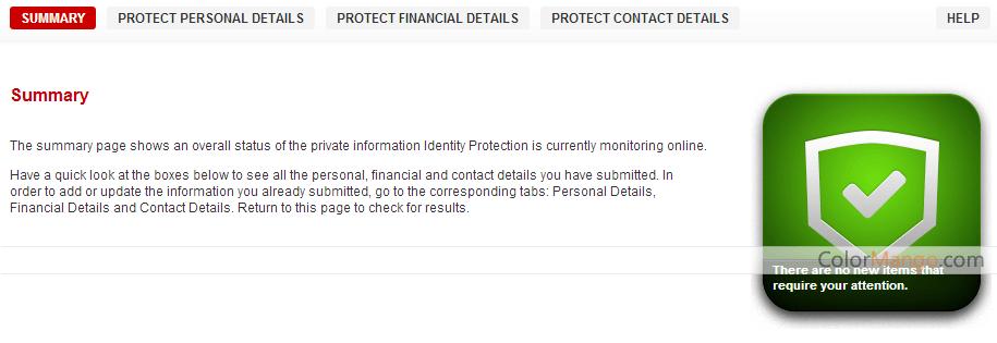BullGuard Identity Protection Screenshot