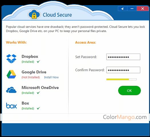 Cloud Secure Capture D'écran