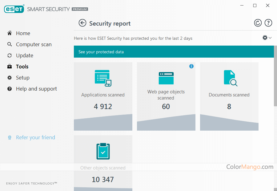 ESET Smart Security Premium Bildschirmfoto