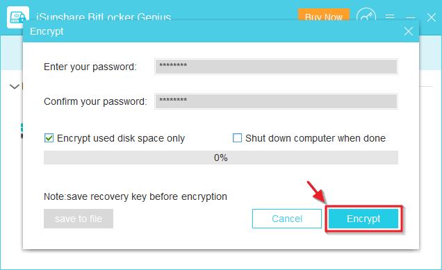 iSunshare BitLocker Genius Screenshot