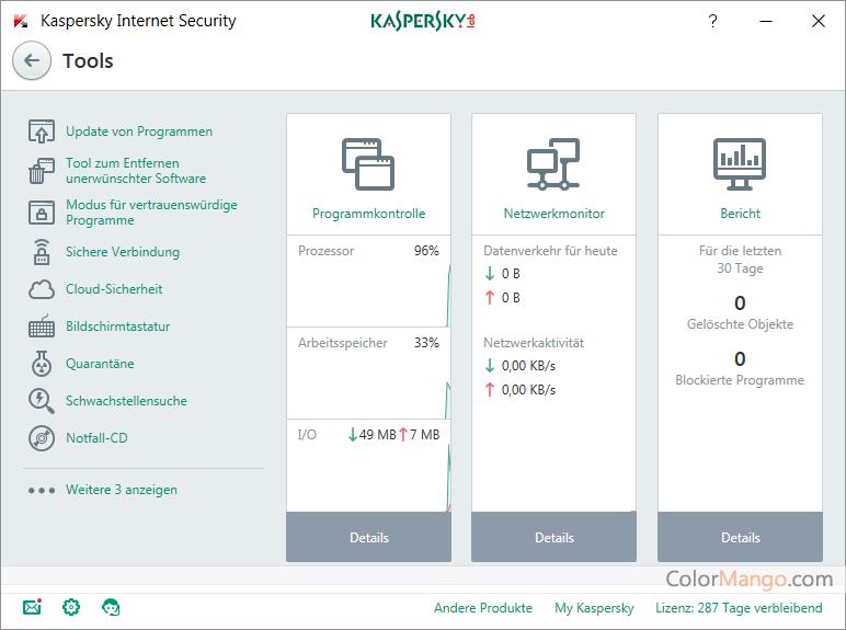 Kaspersky Internet Security Bildschirmfoto