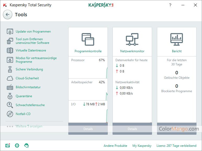 Kaspersky Total Security Bildschirmfoto