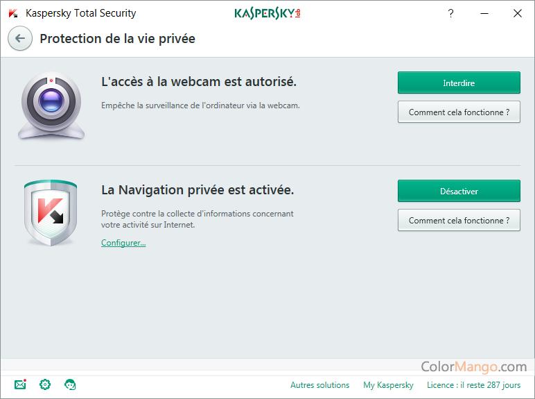 Kaspersky Total Security Capture D'écran
