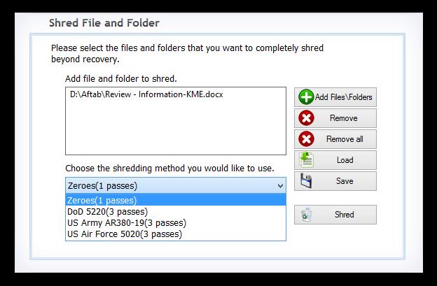 Kernel File Shredder Capture D'écran