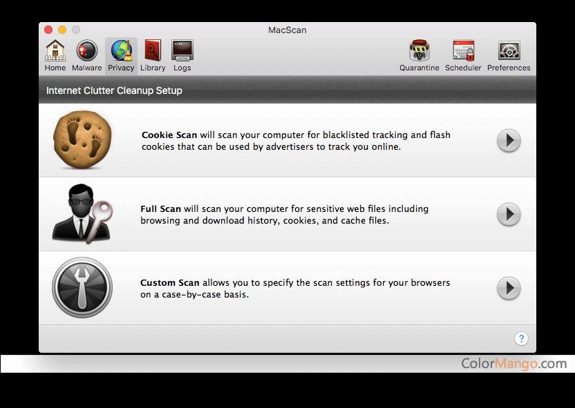 MacScan Capture D'écran