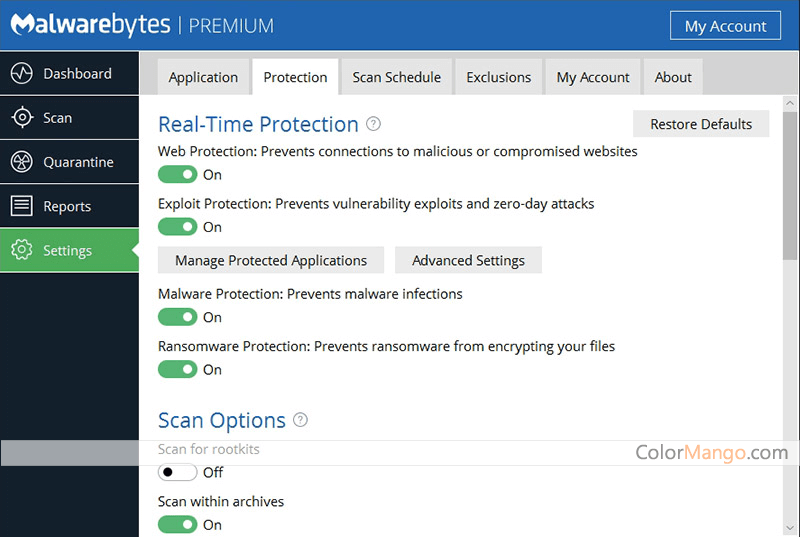 Malwarebytes Anti-Malware Premium combines powerful new technologies designed to seek out, destroy, and prevent malware. Malwarebytes Anti-Malware Premium detects AND protects in an easy-to-use, straightforward, heavy-hitting but lightweight anti-malware application.