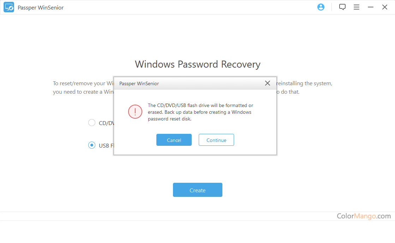 Passper WinSenior Screenshot
