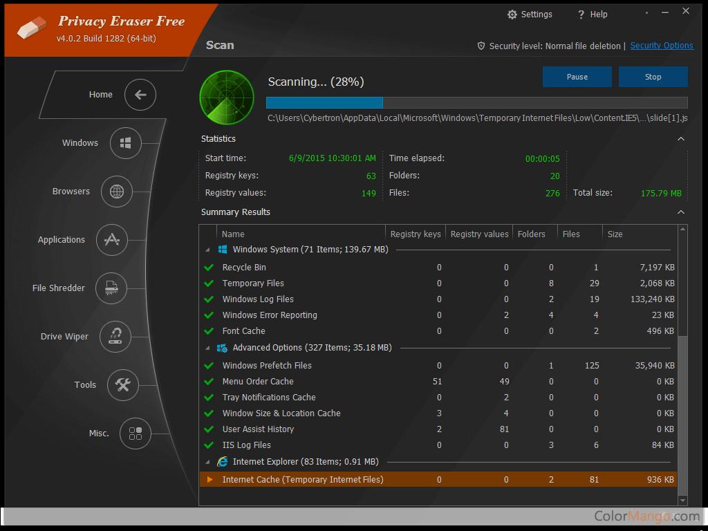 Privacy Eraser Pro Bildschirmfoto