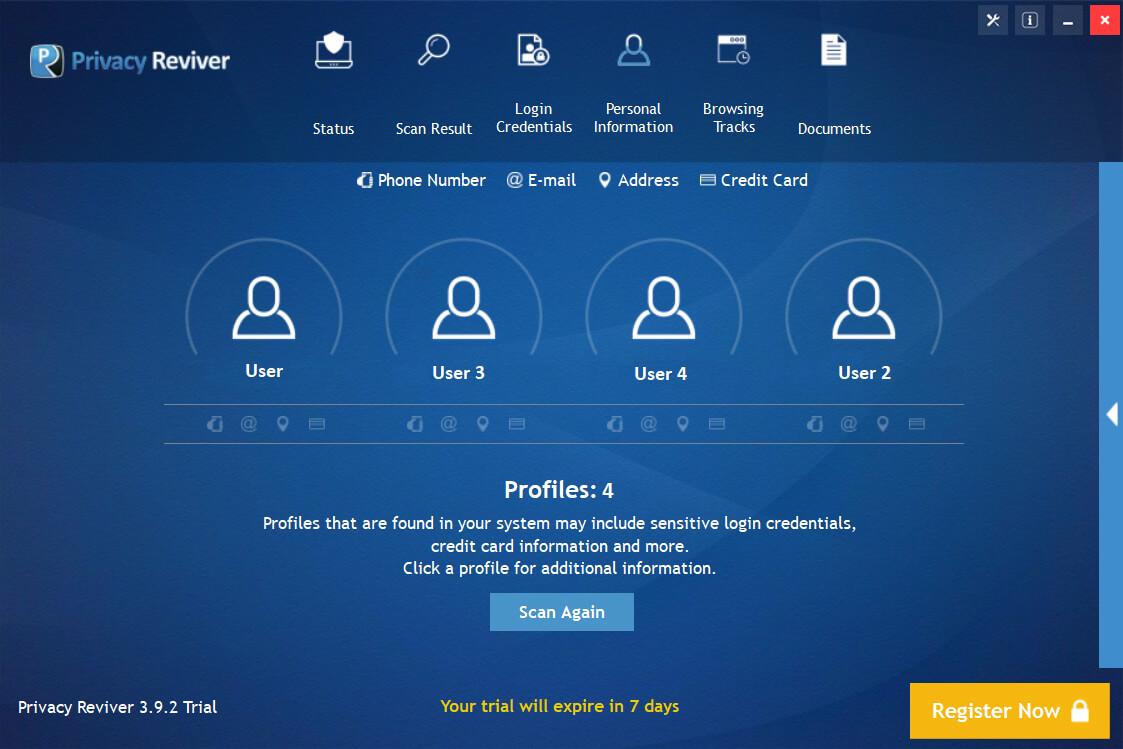 Privacy Reviver Screenshot