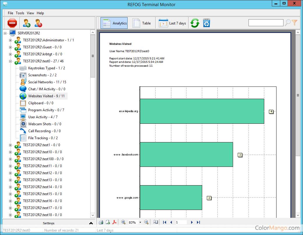 REFOG Terminal Monitor Screenshot