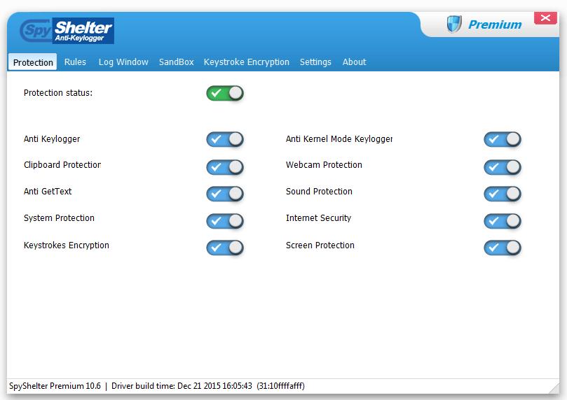 SpyShelter Premium Bildschirmfoto