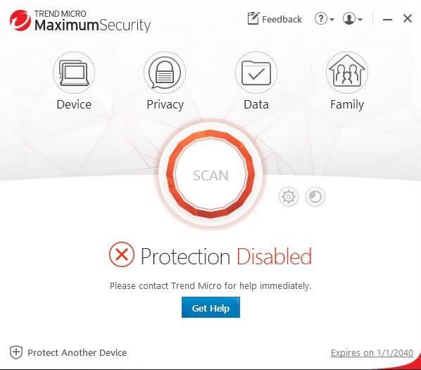 Trend Micro Maximum Security Capture D'écran