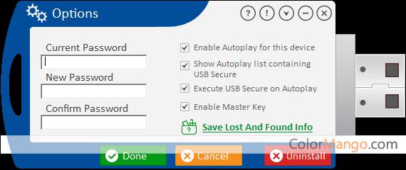 USB Secure Capture D'écran