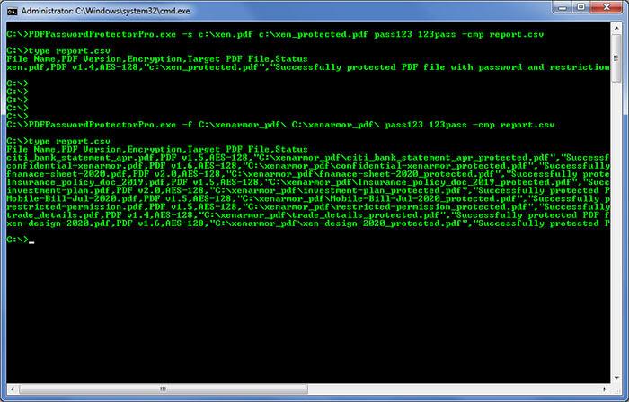 XenArmor PDF Password Protector Pro スクリーンショット