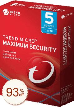 Trend Micro Maximum Security Code coupon de réduction