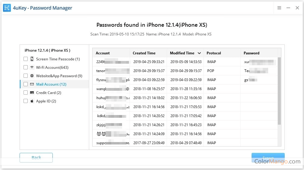 4uKey - iOS Password Manager Screenshot