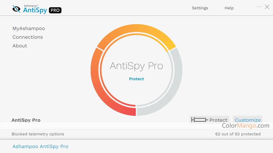 Ashampoo AntiSpy Pro Screenshot