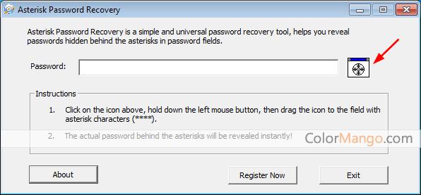 Asterisk Password Recovery Screenshot