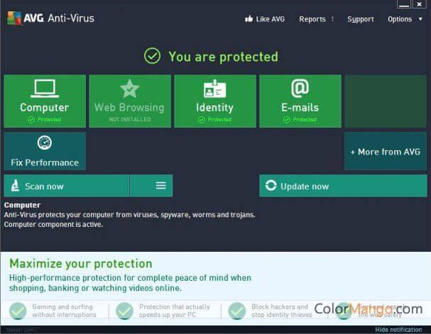 AVG AntiVirus FREE Screenshot