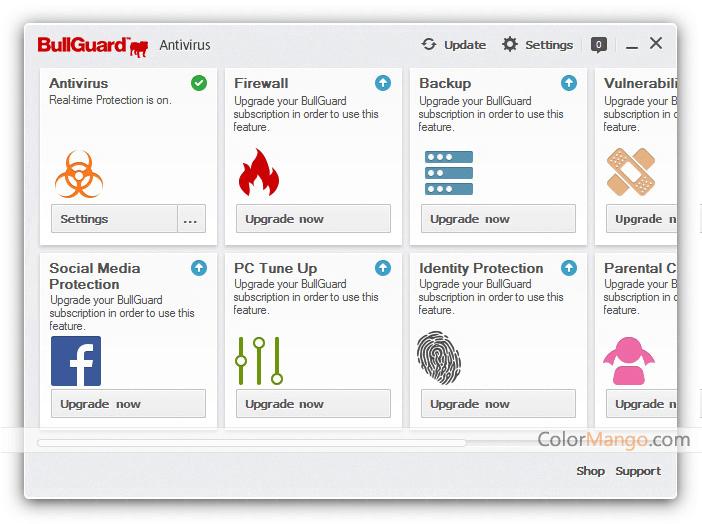 BullGuard Antivirus Screenshot