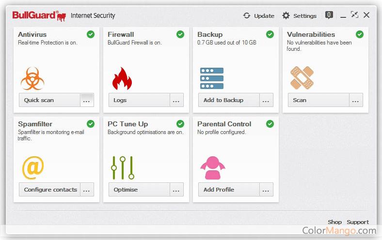 BullGuard Internet Security Screenshot