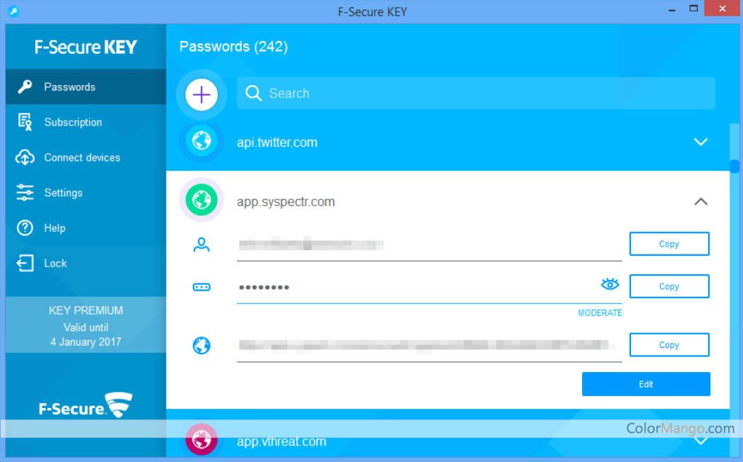 F-Secure Key Screenshot