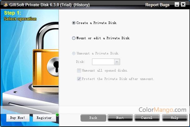 GiliSoft Private Disk Screenshot