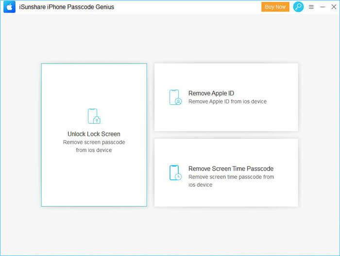 iSunshare iPhone Passcode Genius Screenshot
